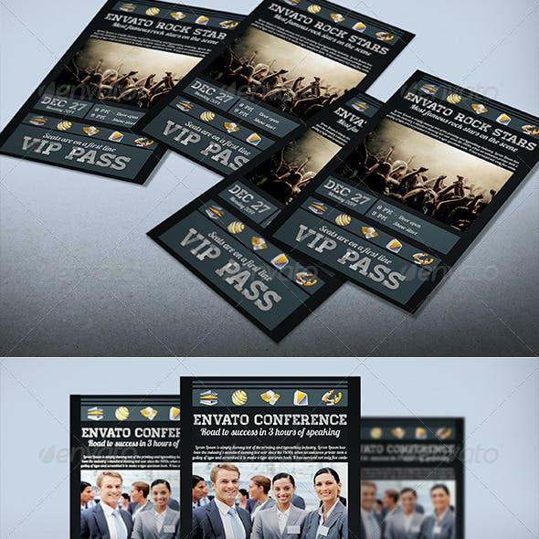Dark Style VIP Pass Card