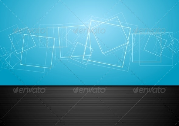 Abstract Contrast Blue and Black Backdrop - Backgrounds Decorative