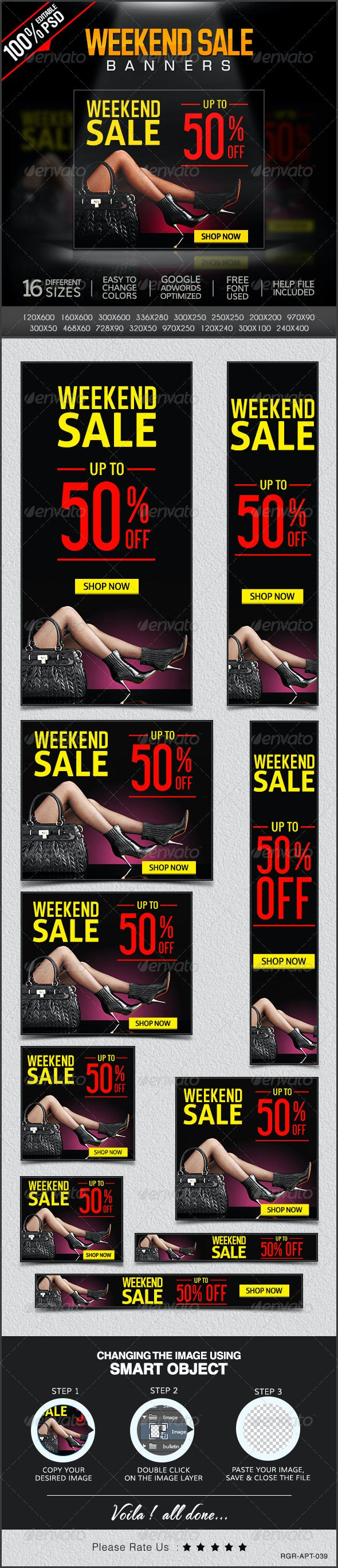 Weekend Super Sale Banners - Banners & Ads Web Elements