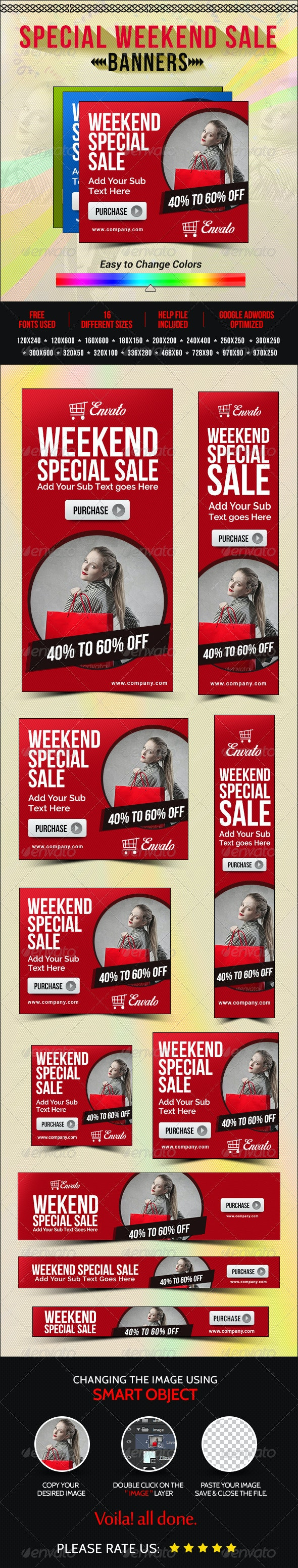 Weekend Sale Banners - Banners & Ads Web Elements