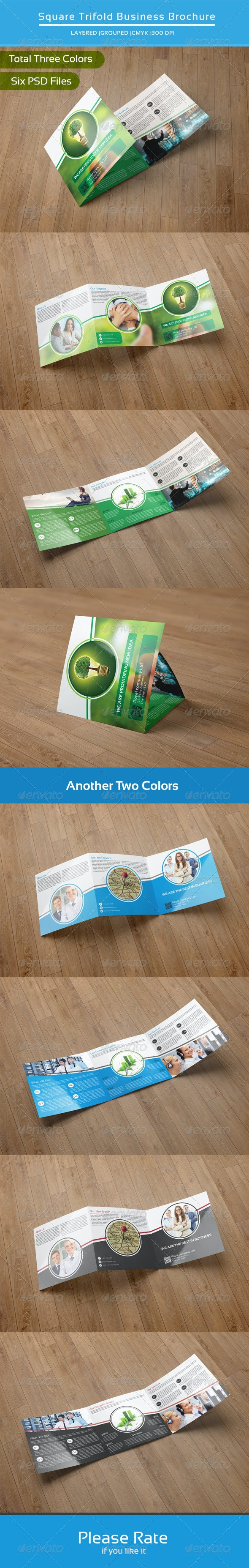 Square Trifold Business Brochure-V15 - Corporate Brochures
