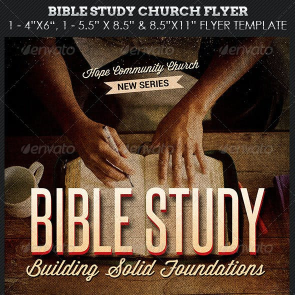 Bible Study Church Flyer Photoshop Template