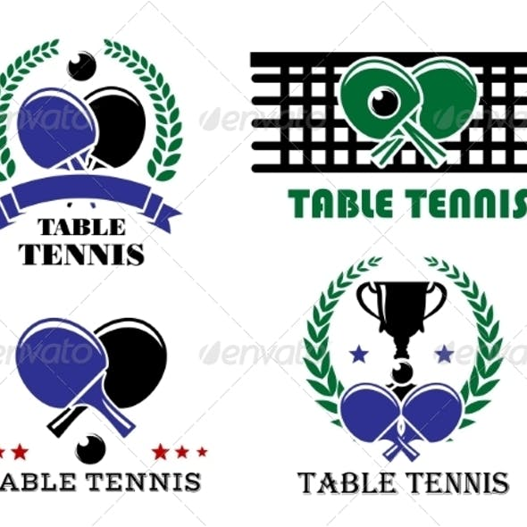 Ping-Pong and Table Tennis Symbols
