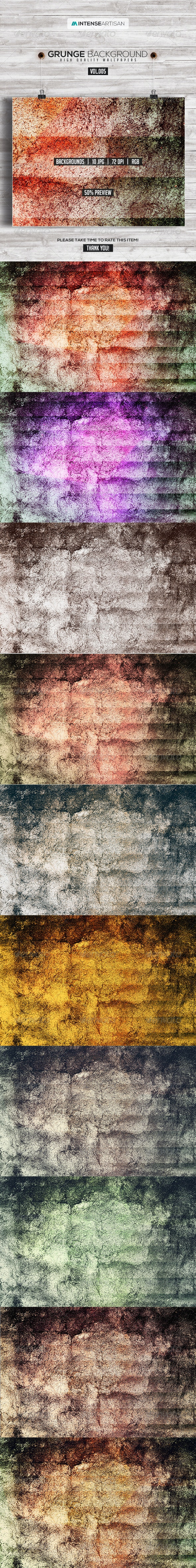 10 Grunge Background Vol.5 - Backgrounds Graphics