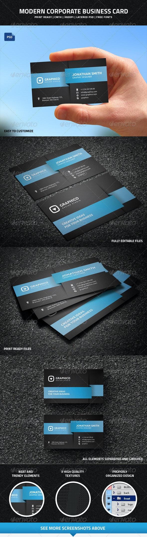 Modern Corporate Business Card - 42 - Creative Business Cards