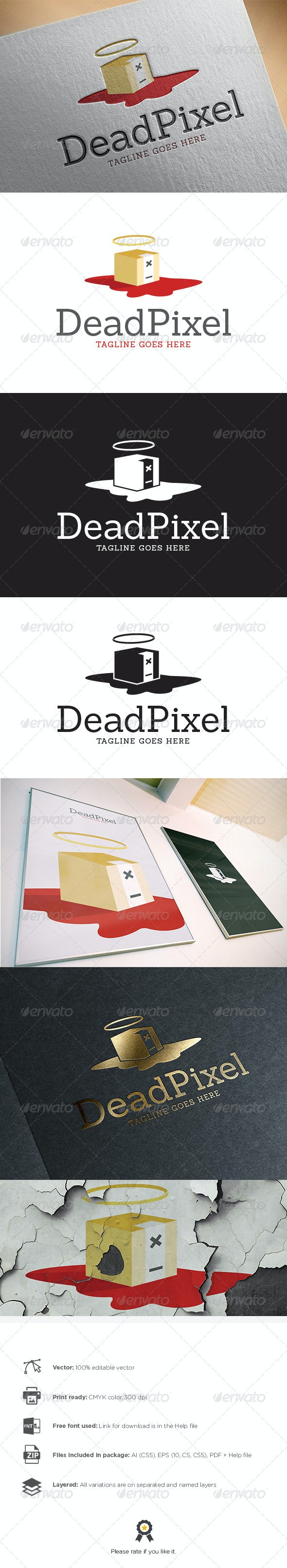 Dead Pixel Logo - Abstract Logo Templates