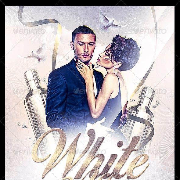 White Affair Party Flyer PSD