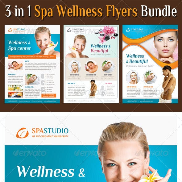 3 in 1 Spa Wellness Flyers Bundle 09