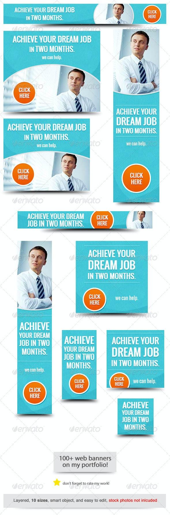Job Web Banner Design - Banners & Ads Web Elements