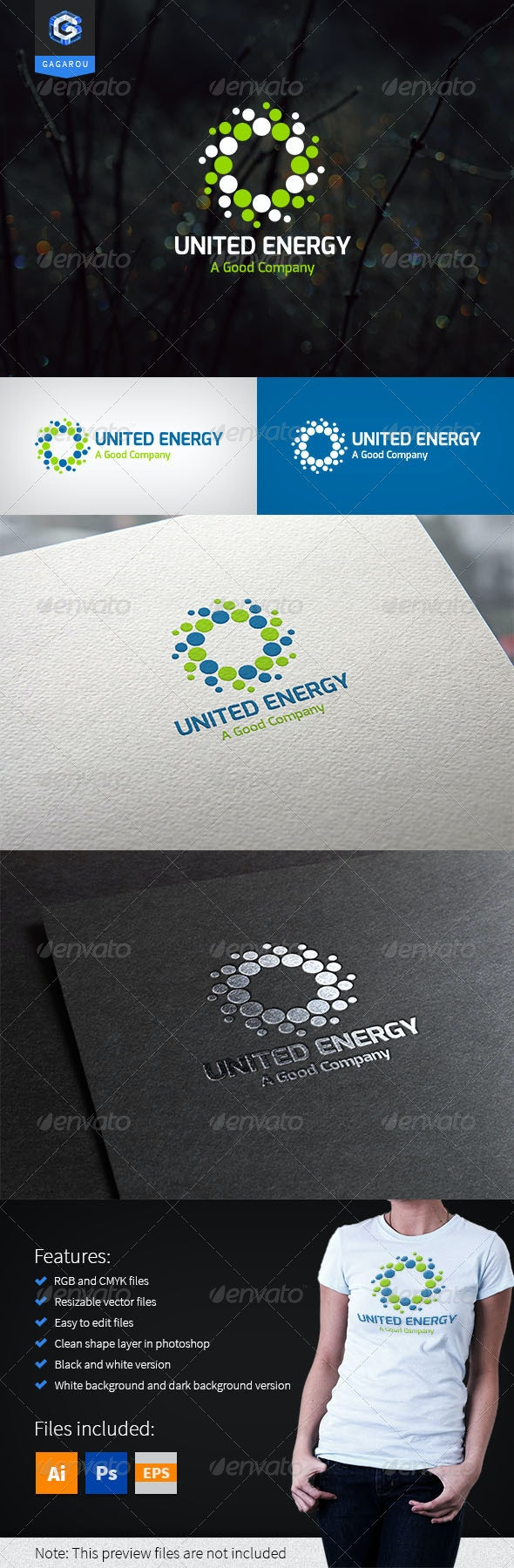 United Energy logo - Abstract Logo Templates