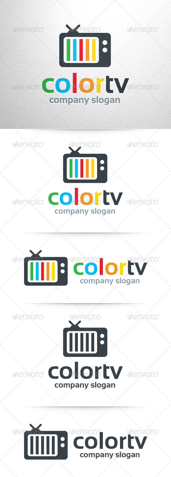 Color TV Logo Template - Objects Logo Templates