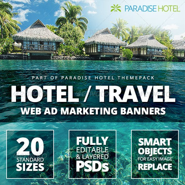 Hotel - Travel Web Ad Marketing Banners