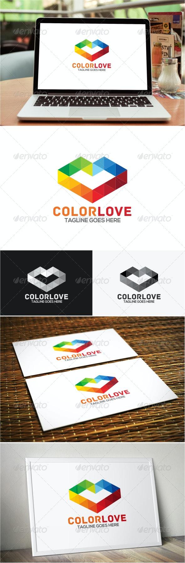 Color Love Logo - Symbols Logo Templates