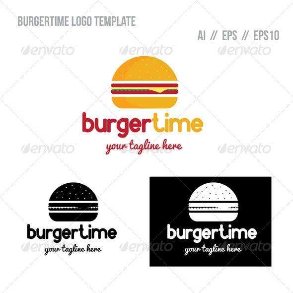 Burger Time Logo Template
