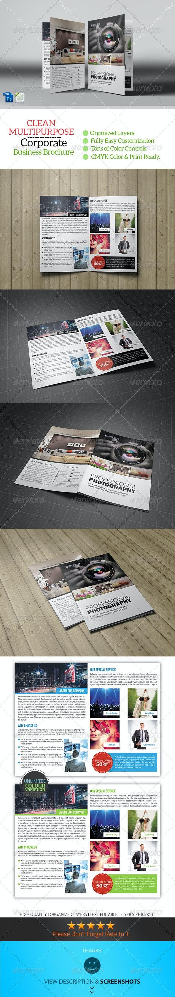 Photography Bifold Brochure Template - Corporate Brochures