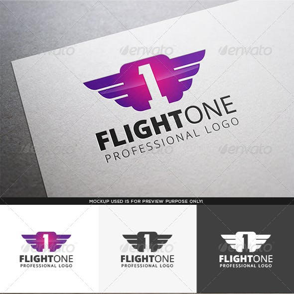 Flight One Logo Template