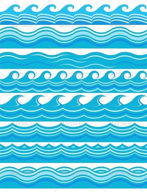 Blue Wave Patterns  - Patterns Decorative