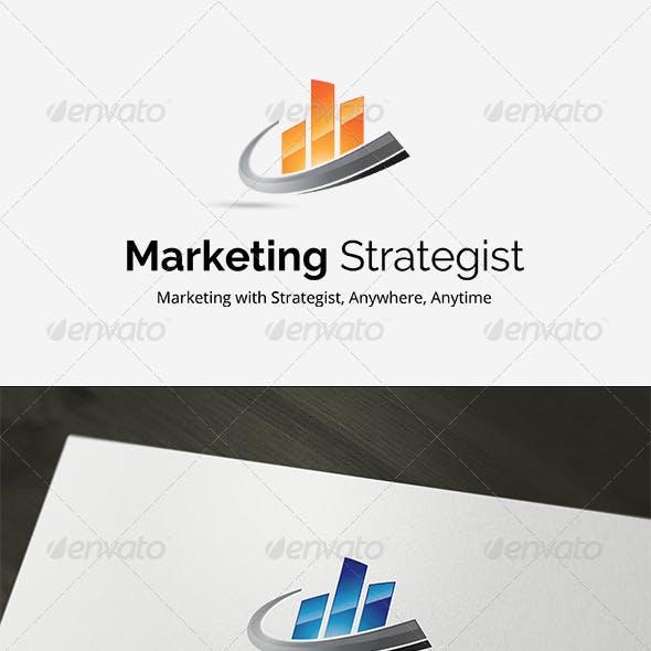 Marketing Strategist Logo Template