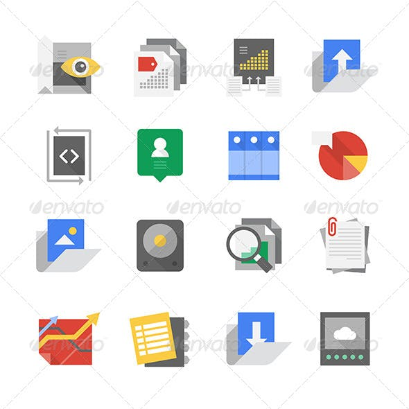 Web Development and Content Technology Icons