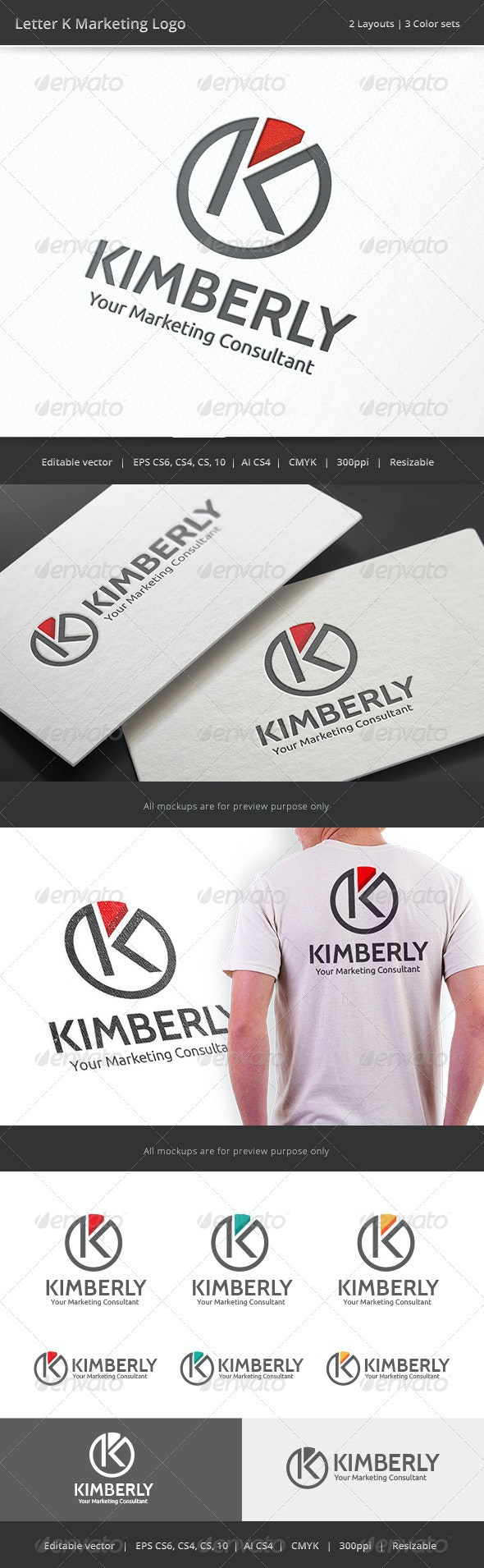 Kimberly Marketing Letter K Logo - Letters Logo Templates