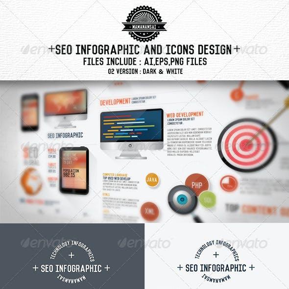 SEO Infographics Design & SEO Icons[Update]