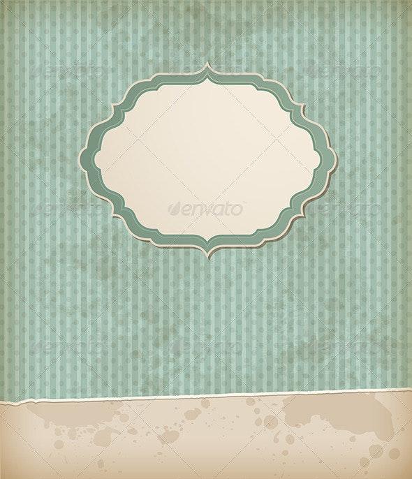 Vintage Background with Label - Backgrounds Decorative
