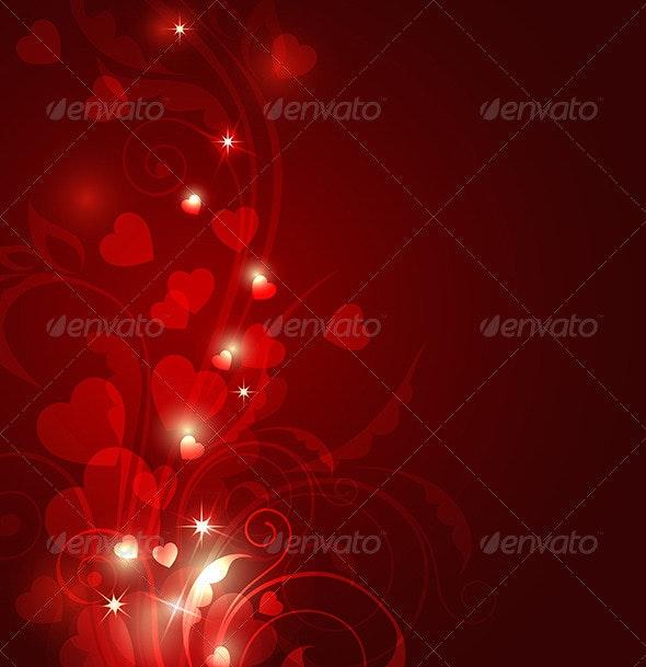 Red Valentine Background - Valentines Seasons/Holidays