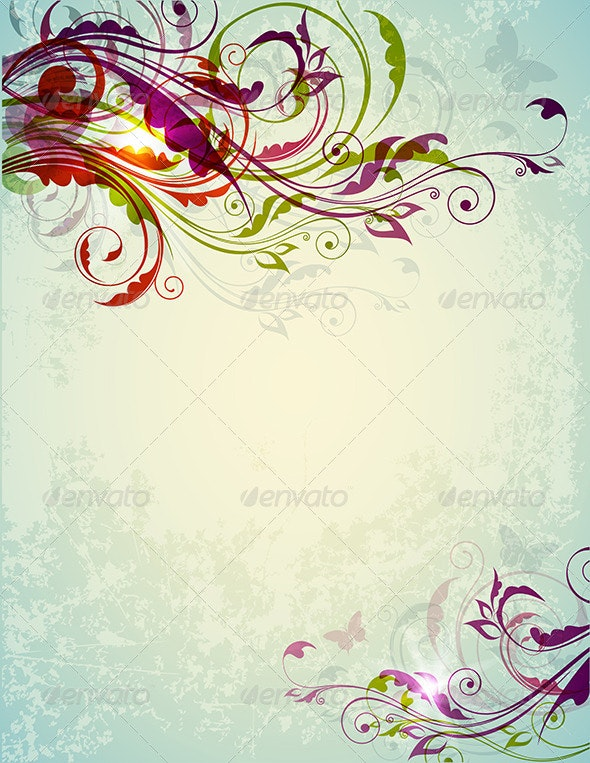 Abstract Decorative Floral Background - Backgrounds Decorative