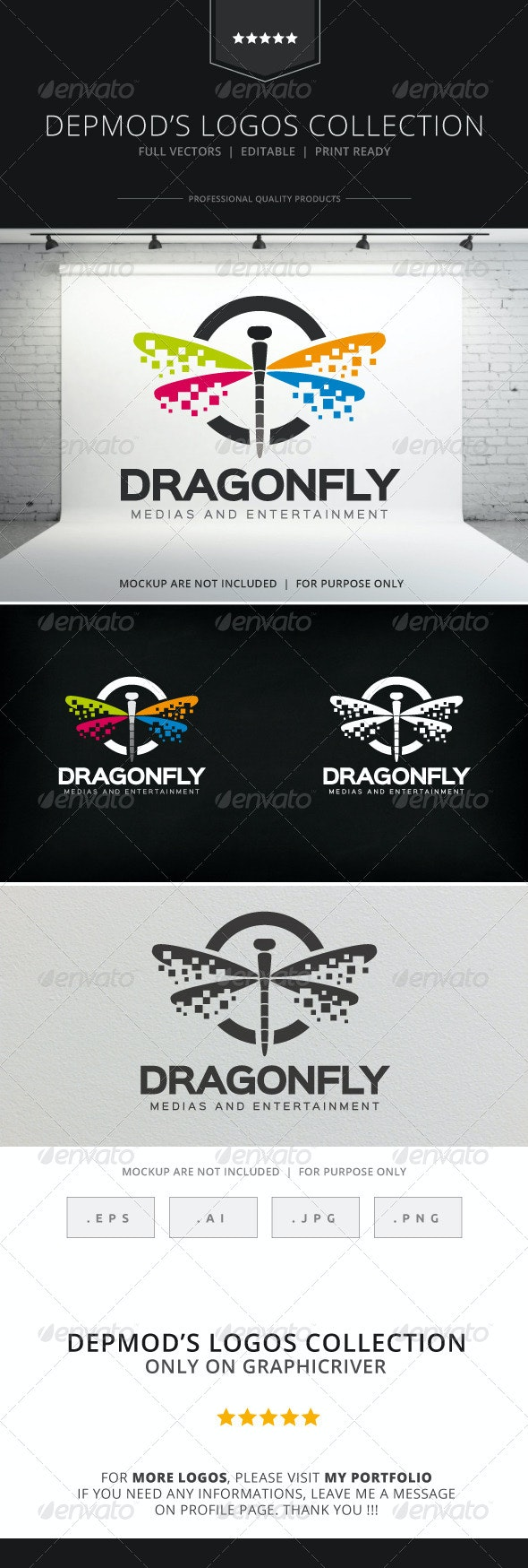 Dragonfly Logo - Animals Logo Templates