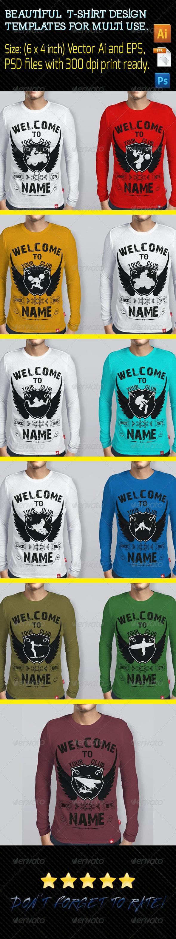 T-Shirts Design Template 01 - Sports & Teams T-Shirts