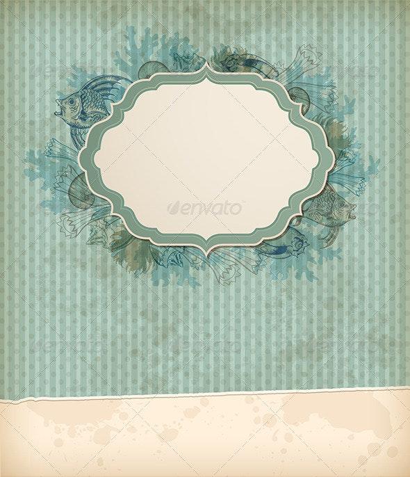 Vintage Marine Background - Backgrounds Decorative