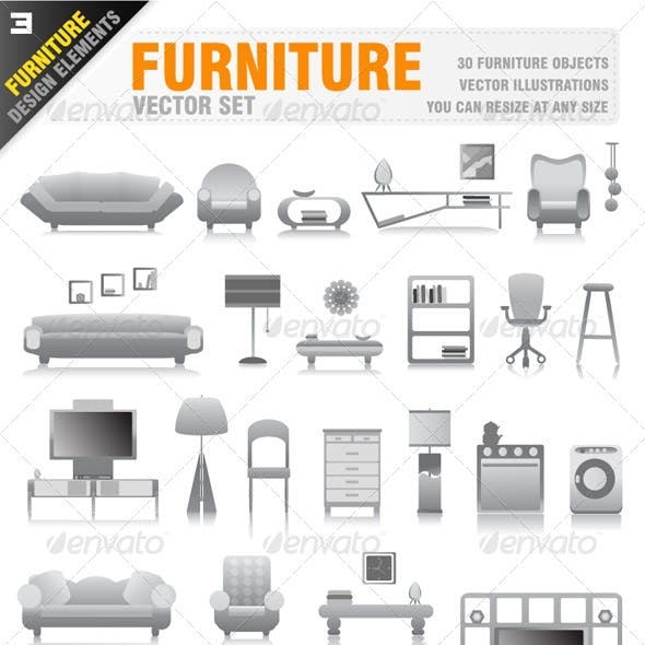 30 Furniture Icons