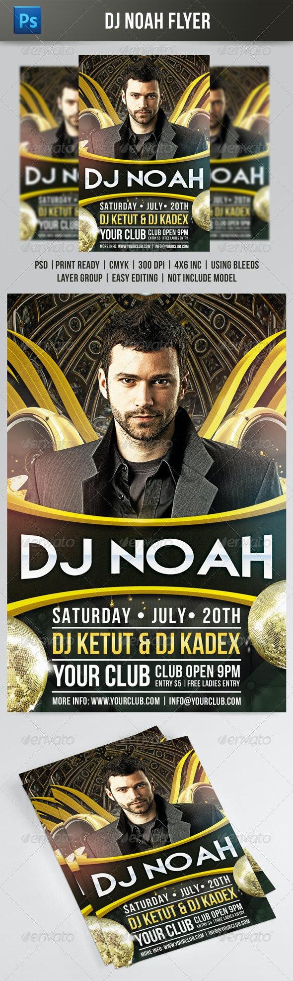 DJ Noah Flyer Template - Clubs & Parties Events