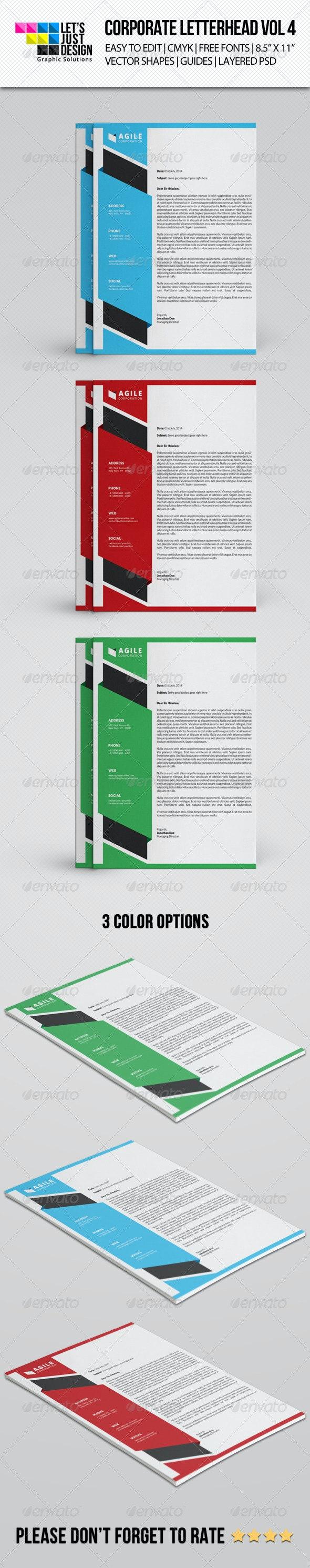 Corporate Letterhead Vol 4 - Stationery Print Templates