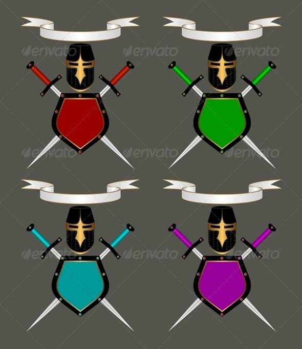 Heraldic Composition Set - Decorative Symbols Decorative