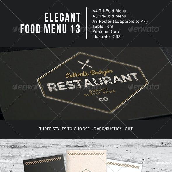 Elegant Food Menu 13