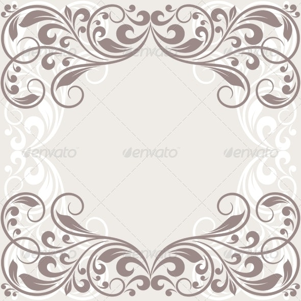 Floral Greeting Card - Backgrounds Business