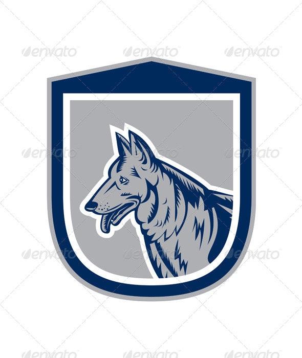 German Shepherd Shield - Animals Characters