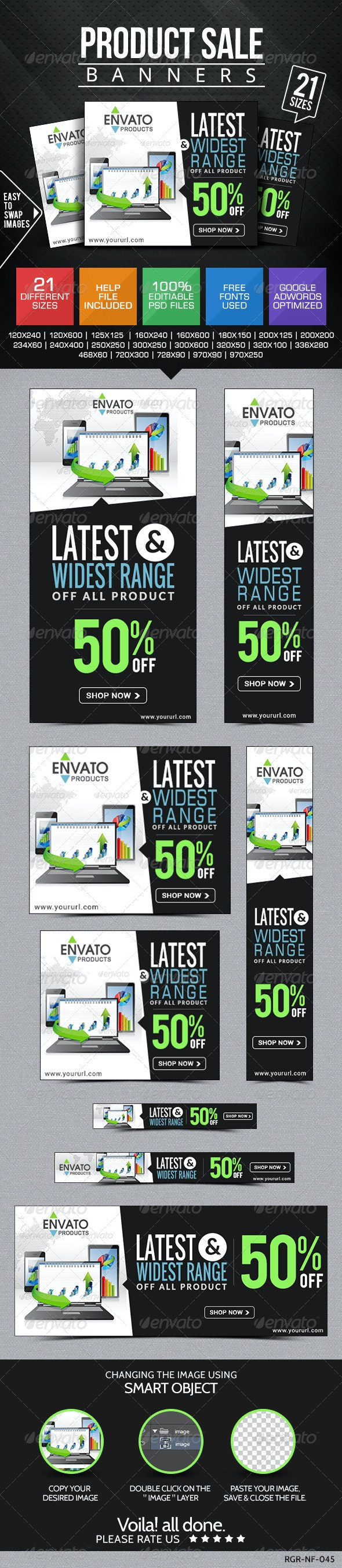 Product Sale Banners - Banners & Ads Web Elements