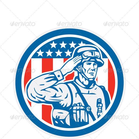 U.S Military Salute Circle