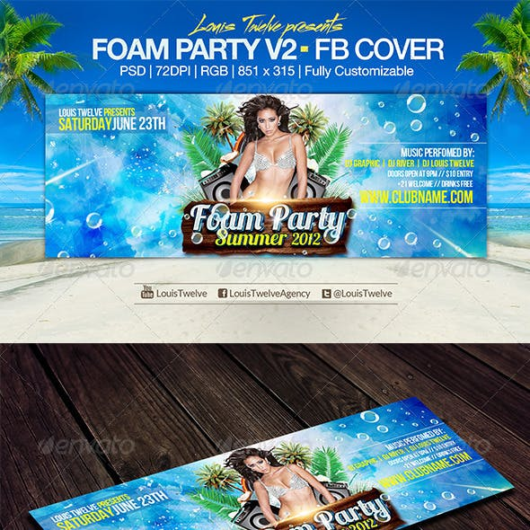 Foam Party v2 | Facebook Cover