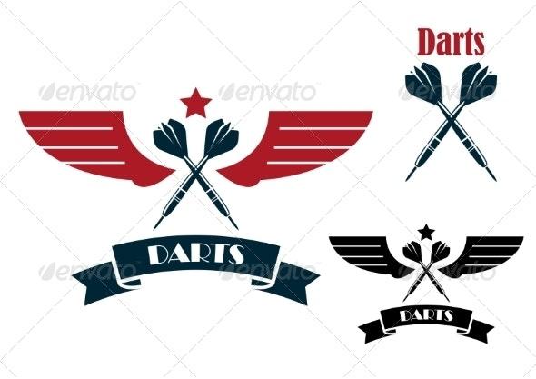 Dart Emblems and Symbols - Sports/Activity Conceptual