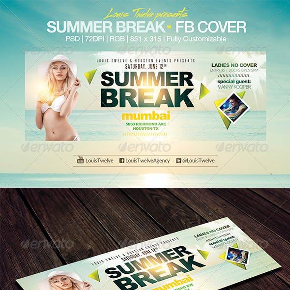 Summer Break | Facebook Cover
