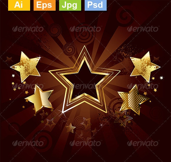 Star on a Brown Background - Decorative Vectors