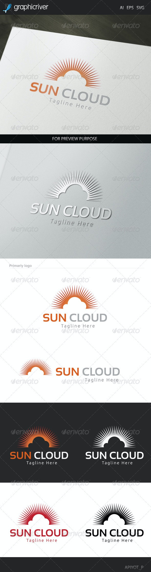 Sun Cloud Logo - Symbols Logo Templates