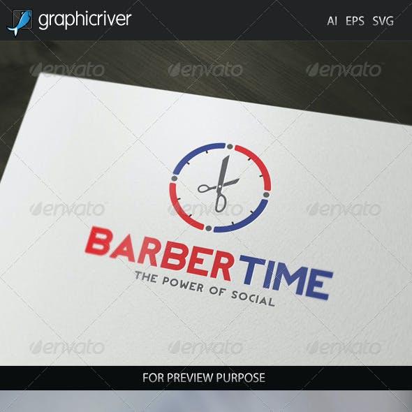 Barber Time Logo
