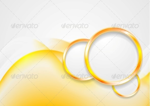 Abstract Waves and Circles - Backgrounds Decorative