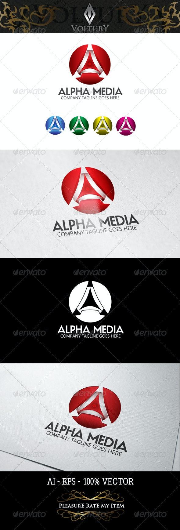 Alpha Media Letter A 3D Logo - 3d Abstract