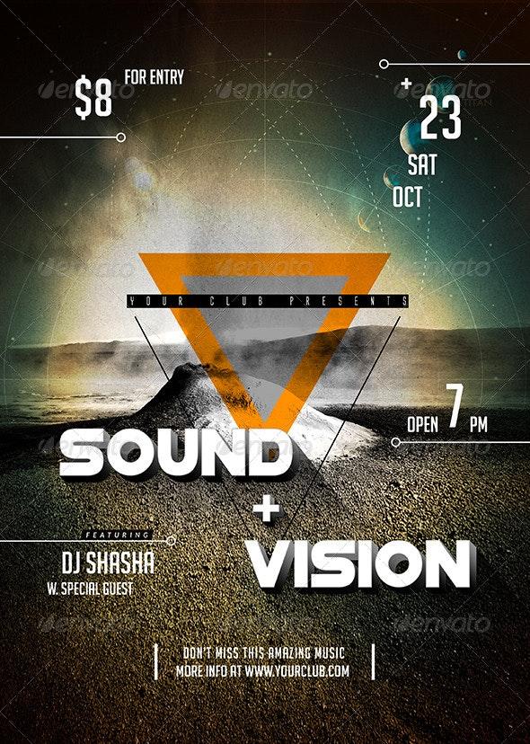 Sound & Vision Flyer - Flyers Print Templates