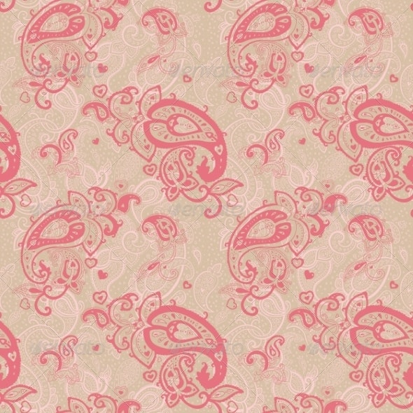 Seamless Paisley Background. - Backgrounds Decorative